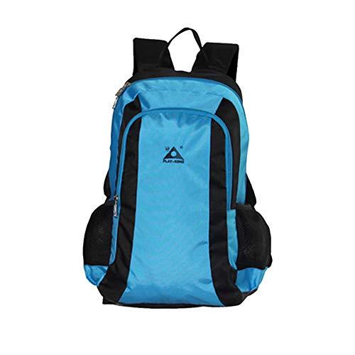 GJF Wanderrucksack, 47L Polyester wasserdichter Trekkingrucksack mit Klappstuhl, multifunktionale lässige Outdoor-Tasche Daypack, zum Bergsteigen Reisen Klettern Camping Männer Frauen-blue