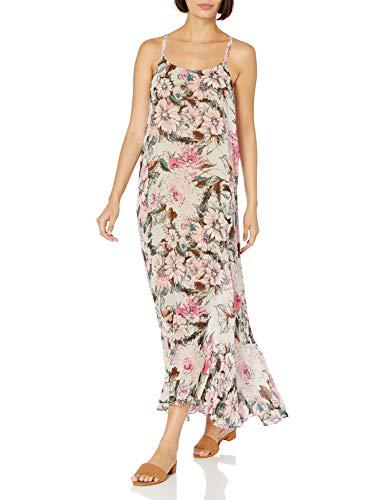 Plenty by Tracy Reese Women's Flounce Hem Maxi Dress, Vintage Watercolor Floral, S