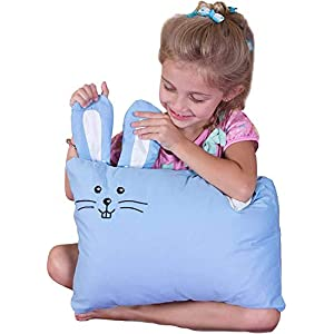 Kinder Fluff Toddler Pillow & Pillowcase -100% Cotton.Down Alternative Fill.Hypoallergenic & Machine Washable