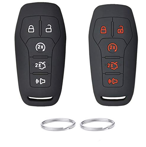REPROTECTING Silicone Rubber Key Fob Cover Compatible with 2013-2018 Ford...