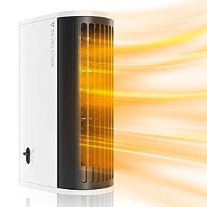MojiDecor Calefactor Portátil Eléctrico, Calefacción 500W, Calentador con 3 Ajustes de Temperatura,Protección contra Sobrecalentamiento, Seguridad para Hogar&Oficina