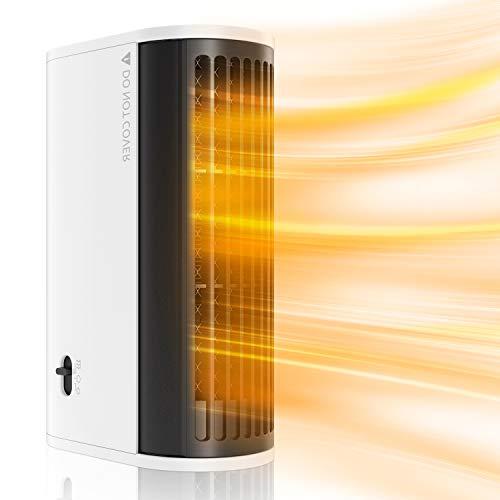 MojiDecor Termoventilatore Elettrico Personale Riscaldamento Rapido 2s con Protezione del Surriscaldamento, 500W Mini Riscaldatore Stufetta Elettrica Portatile a Basso Consumo per Ufficio Casa Viaggio