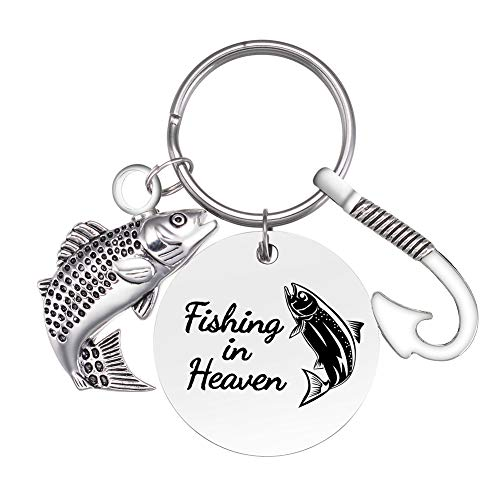 Cremation Urn Keychain Fish Hook Cremation Jewelry Fish Urn Memorial Keychain Cremation Keychain for Ashes