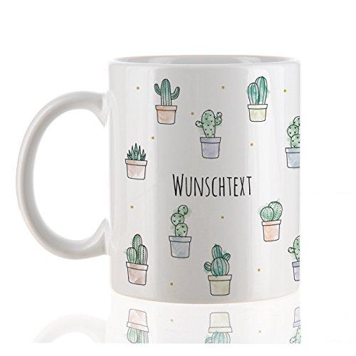 Herz & Heim® Tasse - Kaktus - mit Ihrem Wunschtext