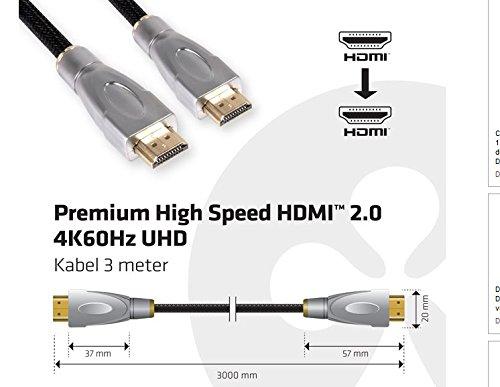 Club 3D Premium High Speed HDMI 2.0 4K60Hz UHD Kabel 3 Meter