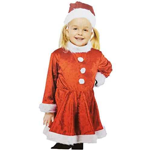 Land-Haus-Shop meisje kerstmankostuum, 4-6 jaar, kinderen Kerstmis Sinterklaas man kostuum (LHS)