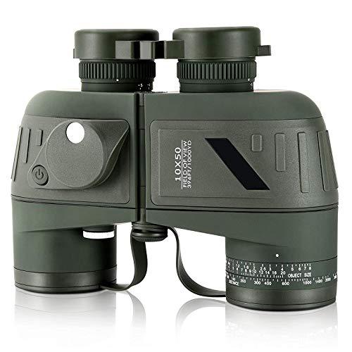 Binoculares para Adultos 10X50 Binoculares Impermeables De Alta Potencia Potentes Binoculares con Lente FMC De Prisma BAK-4 Transparente Y Duradero para Observación De Aves