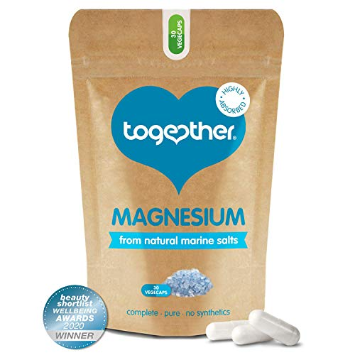 Marine Magnesium – Together Health – from Natural Marine Salts – 5 Natural Forms of Magnesium – Vegan Friendly – Made in The UK – 30 Vegecaps