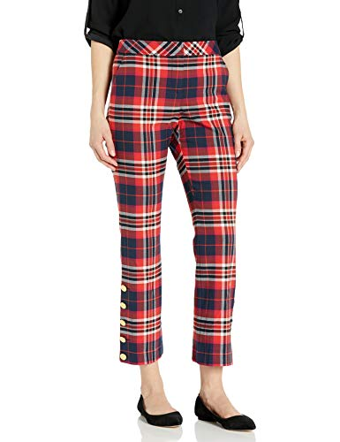 Trina Turk Women's Plaid Pant, Pass The Wine, 6