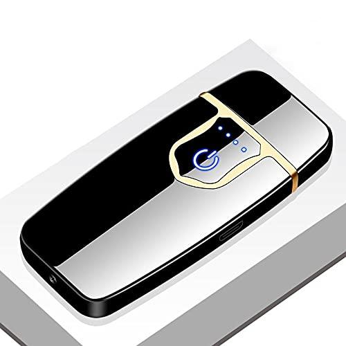 Encendedor USB recargable a prueba de viento de doble arco de plasma sin llama encendedor eléctrico encendedor de cigarrillos J