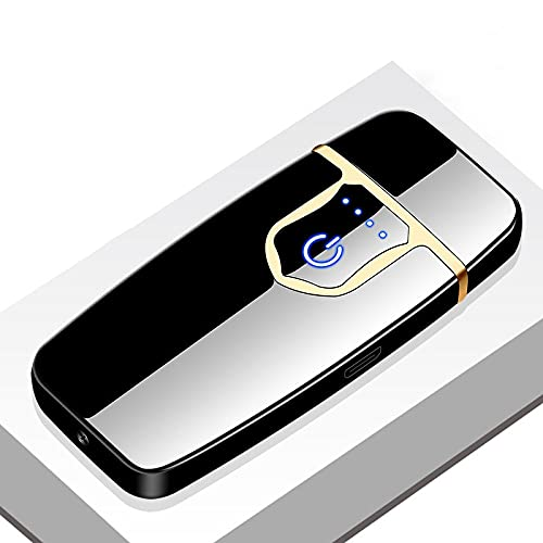 Rechargeable USB Lighter Windproof Dual Arc Plasma Flameless Electric Lighter Cigarette Candle Lighter J