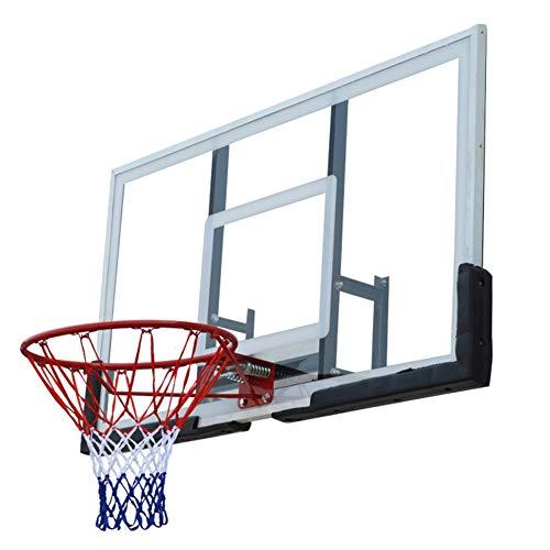 WENZHE Basketballkorb Basketball Netz Set Basketballring Mit Ring Basketball-Board Draussen Bewegung Erwachsene An Der Wand Montiert Standard Rebounds, 137x81cm