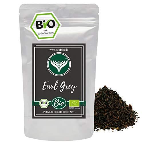 Azafran BIO Earl Grey Schwarzer Tee - Darjeeling Schwarztee mit Bergamotte Öl lose 250g