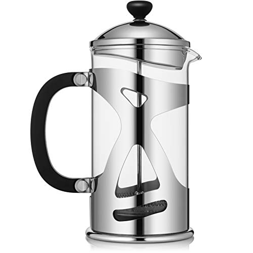 Best Review Of KONA French Press Coffee Maker Large Comfortable Handle & Glass Protecting Stylish St...