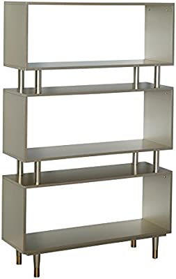 Simple Living Products Modern Margo Mid Century 3 Shelf Bookshelf 595 Inches High