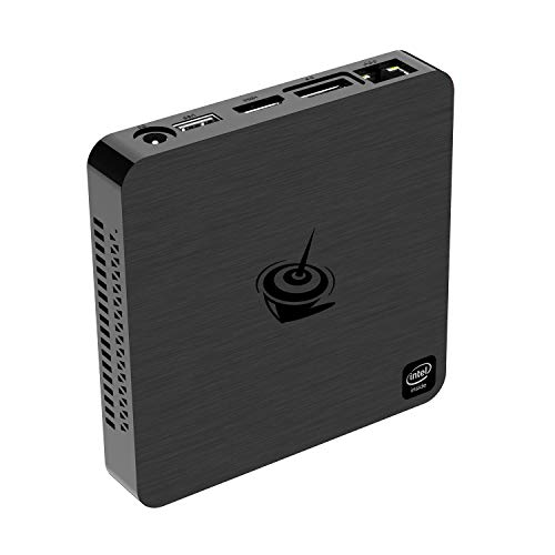 Beelink T4 Mini PC with Win10 OS, Intel Quad-Core Atom X5-Z8500 Mini Computer, 4G RAM+64GB eMMC, 2.4G/5G Dual WiFi,Gigabit Ethernet, HDMI&DP Ports Support Dual Display,Mounting Bracket,Auto Power On
