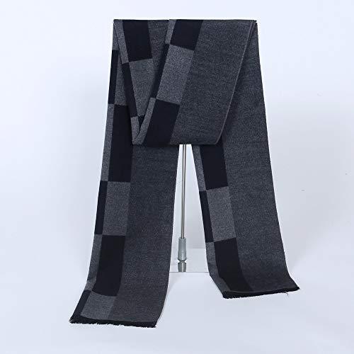 SUNHAO Heren sjaal eenvoudige honderd imitatie wol fluwelen jacquard business honderd rooster mannelijke nek gemiddelde lengte B