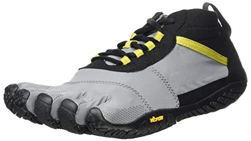 Vibram Mens V-Trek Sneaker, Black/Grey/Citronelle, 42 EU