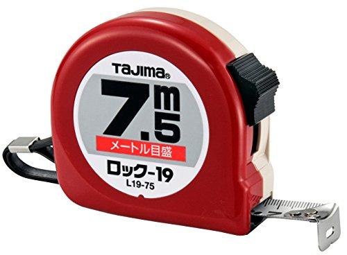タジマ(Tajima) コンベックス 7.5m×19mm ロック19(紙箱入) L19-75