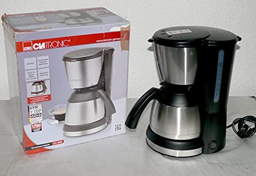 Clatronic KA 3563 ekspres do kawy, na 8-10 filiżanek kawy (ok. 1,2 litra), 800 W, w zestawie wysokiej jakości aplikacje ze stali nierdzewnej, zabezpieczenie przed kapaniem nocnym