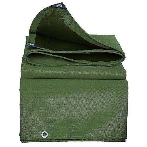 ZHUAN Lona Impermeable Parasol de Alta Resistencia Lona Envoltura de plástico Ángulo de Cubierta de Ojal galvanizado Artículos en su Tienda de jardín o Campo al Aire Libre, 12 tamaños (Color: Verd