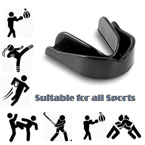 Mundschutz – Mundschutz für Boxen, Rugby, MMA, Muay Thai, Hockey, Judo, Karate, Kampfsport, Unisex – Mundschutz für Erwachsene – Schwarz