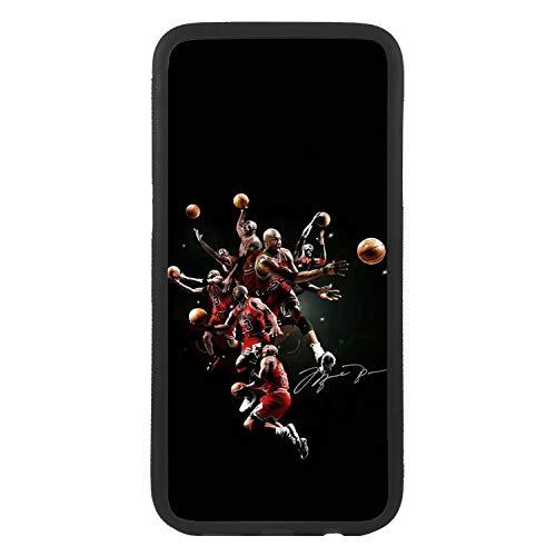afrostore Funda Carcasa de móvil para Apple iPhone 5 5s Michael Jordan Salto Mate TPU Borde Negro