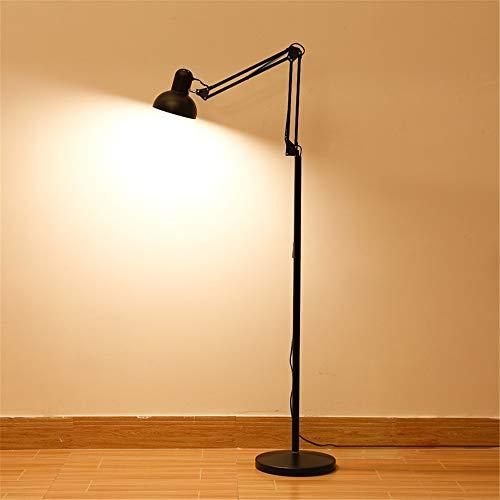 AnoJm Wandleuchte Stehlampe Einstellbare LED-Stehlampe für Wohnzimmer Stehende Akzentbeleuchtung für Schlafzimmer Büro Hohe Stehlampe Gute Wohnkultur (Color : Black, Size : 28.5 * 28.5 * 132cm)