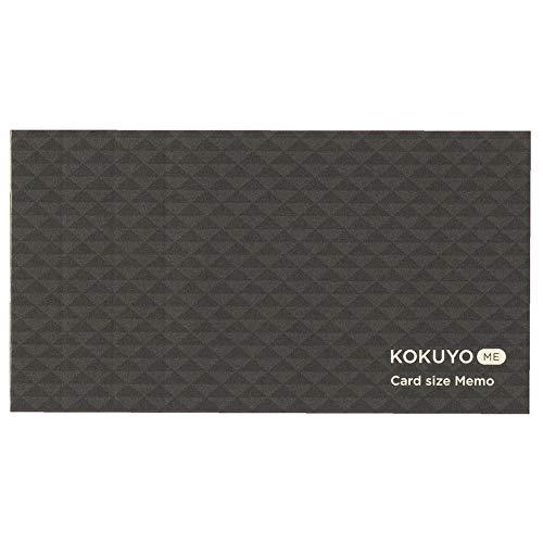 コクヨ メモ カードサイズ KOKUYO ME カットオフ 3mm方眼 黒 KME-MPM1S3DM