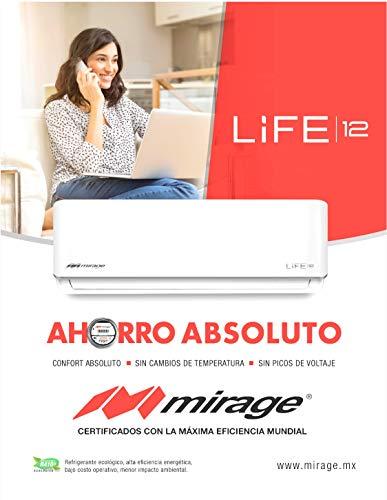 Mini split Mirage Life 12 frío calor 1 tonelada 115v