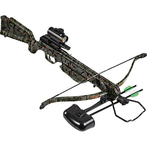 "Wildgame Innovations XR250C Crossbow - Shoots 250 Feet Per Second Quiver, 2-18"" Arrows, RCD & Red Dot Scope, Elude Camo"