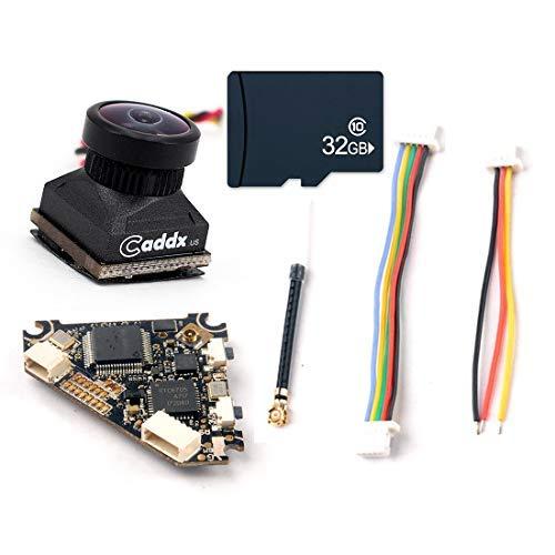 HAPPYMODEL Diamond VTX 5.8G 40CH 25~200mw Switch Transmitter DVR Record Audio + Caddx Turbo EOS2 FPV Camera for Cinewhoop RC Drone Upgraded (VTX DVR 32G + Camera)