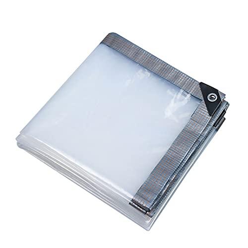 MAHFEI Lonas Impermeables Exterior, Bordes Reforzados Toldos Y Lonas Resistente A Los Rayos Ultravioleta Invernadero De Plantas Esquina Reforzada Cubierta Impermeable Transparencia 85%