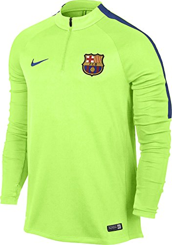 Nike FCB M NK SQD Dril Top Maillot Manches Longues FC Barcelona pour Homme, Vert (Ghost Green/Game Royal), M