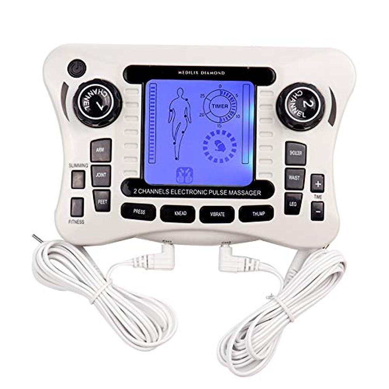 迷信唯一タフ電子パルスマッサージャー/十emsトレーナーボディマッサージャー筋肉刺激装置バックボディネックマッサージデュアルチャンネル療法機