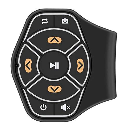 ihreesy Control Remoto del Volante, Botón Multimedia de Inalámbrico Bluetooth Control Remoto inalámbrico Bluetooth para Volante de Coche Universal para Controlador de teléfono móvil Kit de Coche