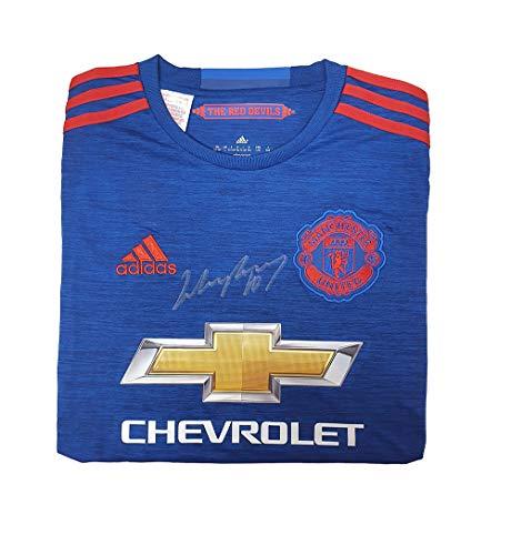 Manchester United Wayne Rooney 2016 (Away) signiertes Trikot – MUFC Manchester United Football Club Fanartikel, Souvenir, Geschenk, Sammlerartikel