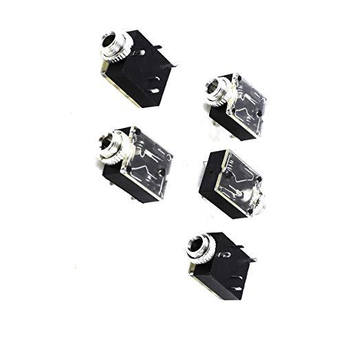 Aexit 5 Stück 5 Pin 3,5 mm Audio Mono-Klinkenbuchse Leiterplattenmontage für Kopfhörer (03f10233795aef61b6a2352cf9240b10)