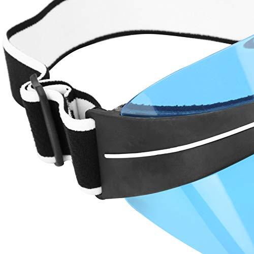 Xndz Sombrero para el Sol, Sol Superior vacío, tamaño Libre, Transpirable para Acampar, Tomar el Sol(23 * 16 * 13cm-Blue)
