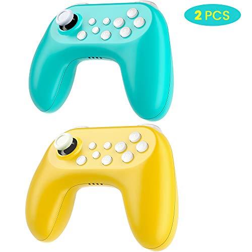 Zacro 2 PCS Mando para Nintendo Switch, con Vibración, Giroscopio, Bluetooth Controlador...