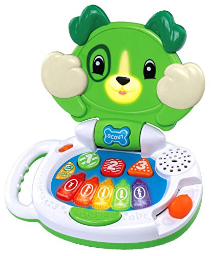LeapFrog Peek-a-Boo LapPup Baby Toy, Interactive Musical Baby Toy with Sounds, Numbers, Shapes & Colours, Educational Toy for Babies & Toddlers from 6 Months+, 2, 3, 4 Year Olds, Boys & Girls, Green