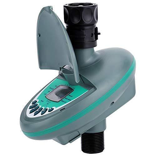 Automatische Steuerung Startseite Automatische Smart-LCD-Display-Wasser-Timer-Controller Elektronische Gartenbewässerung Bewässerung Timer-System (Batterie Nicht eingeschlossen) (Color : Gray)