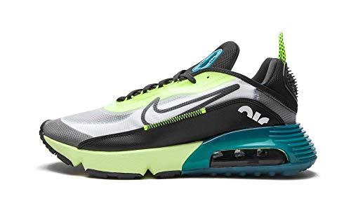 Nike Air Max 2090, Sneaker Uomo, Blanco/Negro-Volt-Valerian Blue, 43 EU