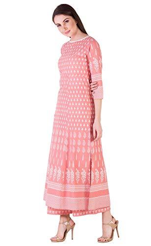 Amayra Women's Cotton Printed Straight Kurti with Palazzos Set