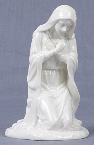 6 Inch All White Porcelain Nativity Figurine Virgin Mary in Prayer