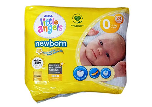 ASDA Little Angels Windeln für Neugeborene, Größe 0