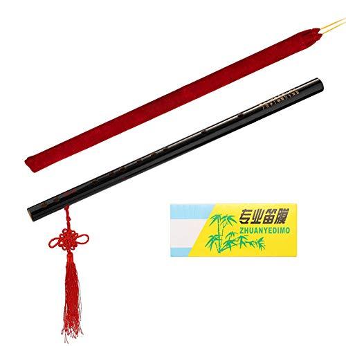 ABMBERTK Bambusflöte, traditionelle handgefertigte professionelle Bambusflöten, Holzblasinstrument, für Anfänger, F.