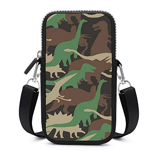 Monedero para teléfono celular con correa para el hombro extraíble, diseño de animales camuflados, impermeable, funda para llavero, cartera, bolsos al aire libre para mujeres