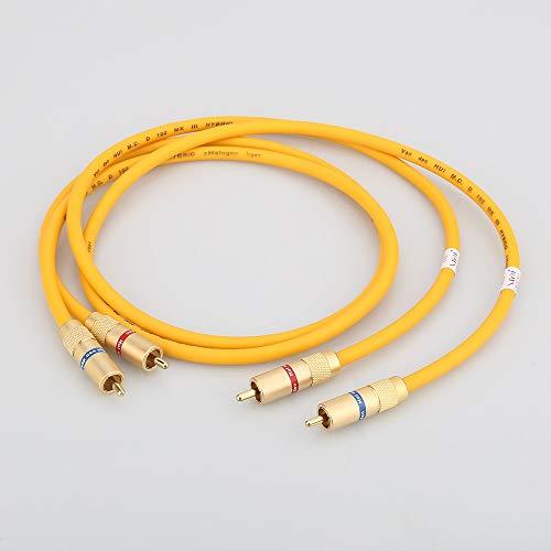 IENPAJNEPQN Par A28 VDH híbrido de interconexión de Audio RCA Hi-Final 2 RCA Macho a Macho Cable de Audio (Size : 1m)