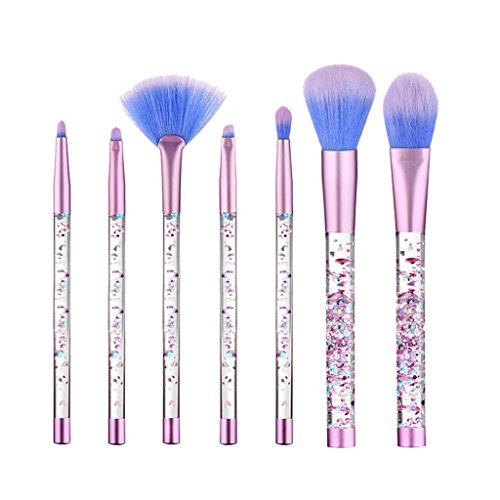 Lot de 7 Mode Poignée Unique Eyes Face à lèvres Cosmétique Lot de pinceaux de maquillage Poudre Fond de Teint Fard à paupières Blush Correcteur Outil